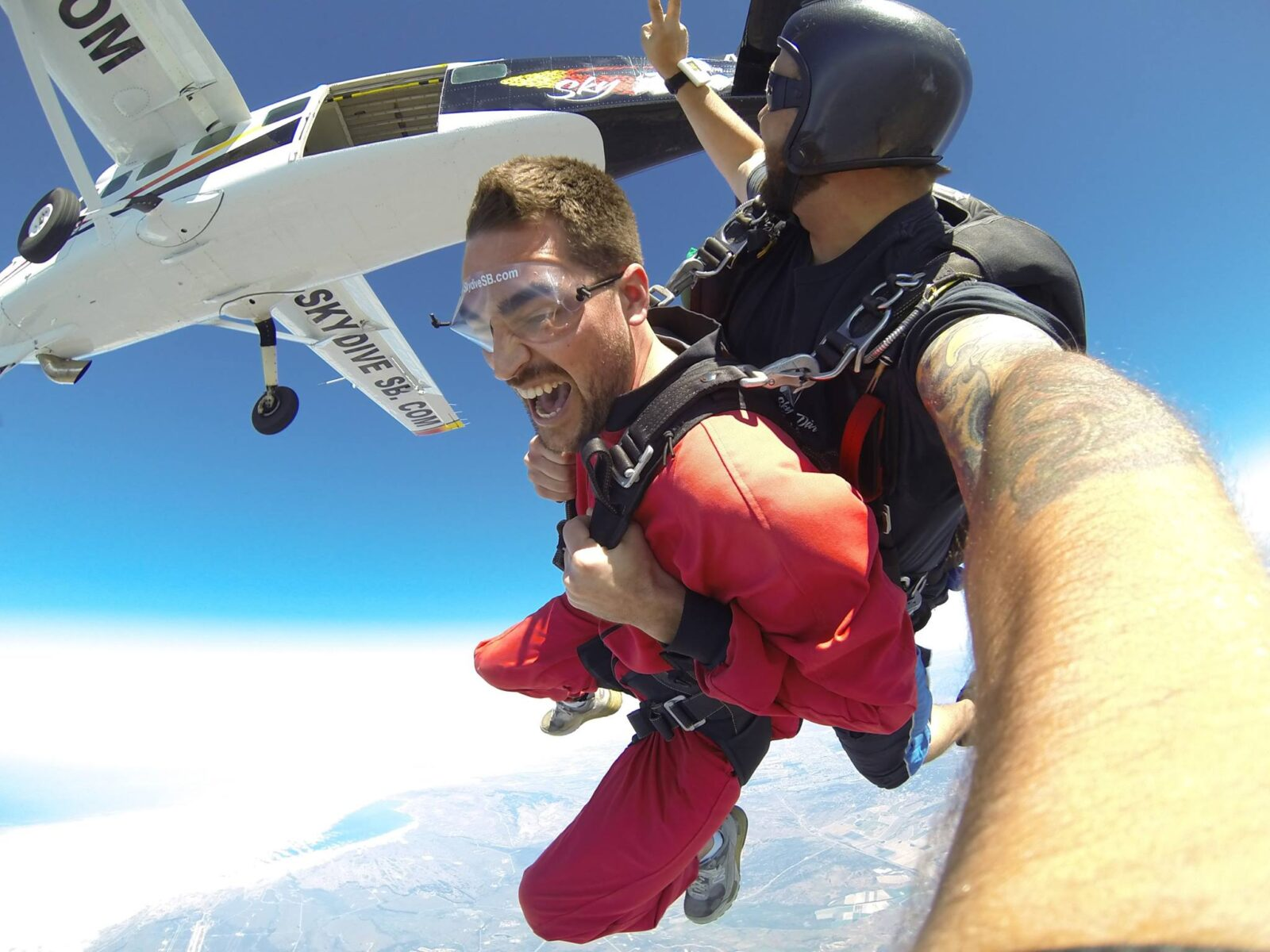 This Image Is A Photo Of A Holiday Tandem Skydive At Skydive Santa Barbara.