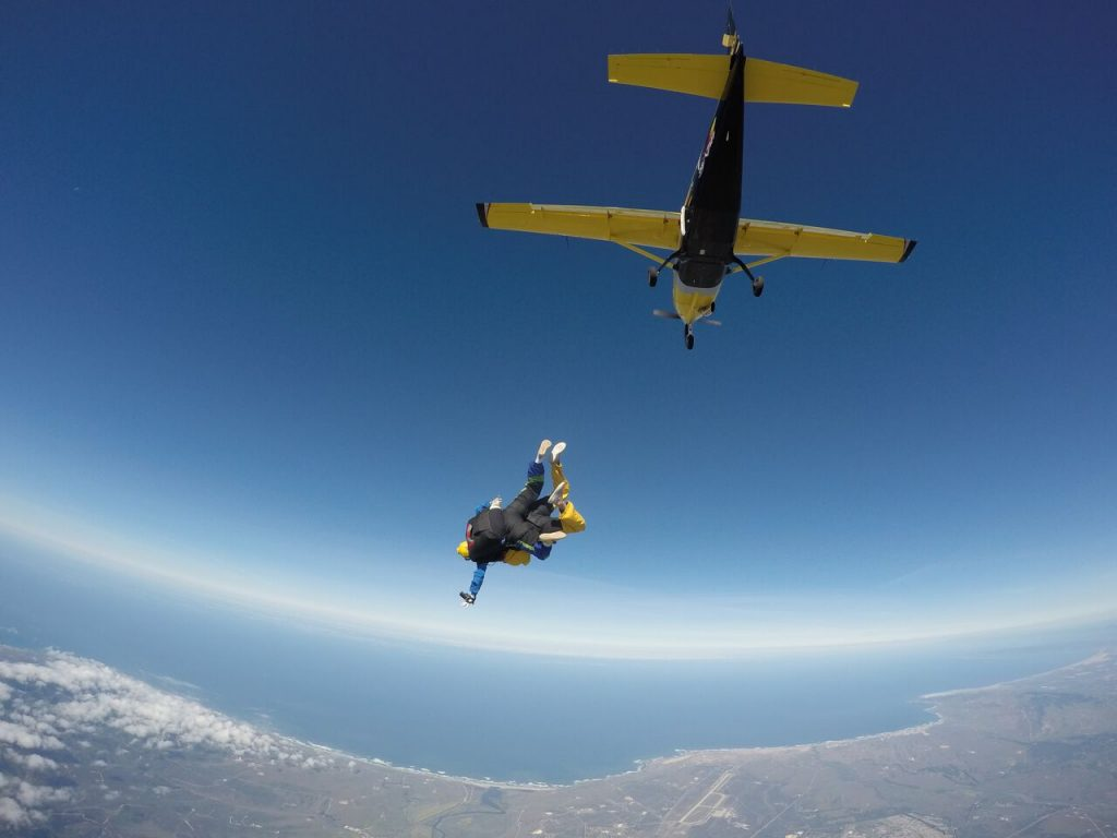 Spectacular Views when You Skydive Coastal California